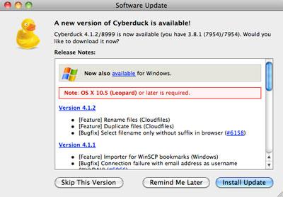Cyberduck Download Mac 10.6 8
